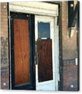 Former Waiting Room Doors Acrylic Print