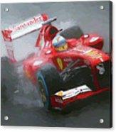 Formula One Burning The Track Acrylic Print