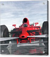 Formula One Racer Acrylic Print by Carol and Mike Werner