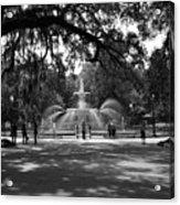 Forsyth Park Black And White Acrylic Print