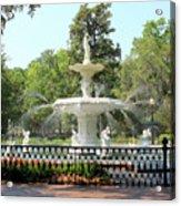 Forsyth Park Fountain Square Acrylic Print