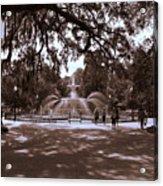 Forsyth Park Sepia Acrylic Print