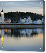 Fort Baldwin Winter Evening Acrylic Print
