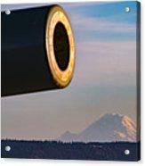 Fort Casey- Mount Rainer Acrylic Print