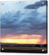 Fort Collins Colorado Sunset Lightning Storm Acrylic Print