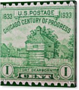 Fort Dearborn Postage Stamp Acrylic Print