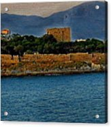 Fort Guvercinada On Canvas Acrylic Print