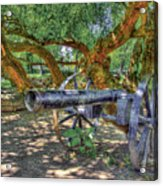 Fort Harrod Cannon Acrylic Print