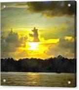 Fort Island Trail Sunset Acrylic Print
