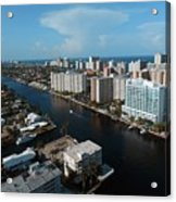 Fort Lauderdale Aerial Photography Acrylic Print