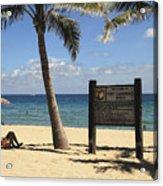 Fort Lauderdale Beach Acrylic Print