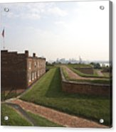 Fort Mchenry Earthworks And Barracks In Baltimore Maryland Acrylic Print