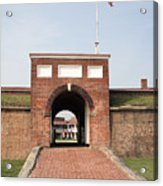 Fort Mchenry Gate In Baltimore Maryland Acrylic Print