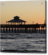 Fort Myers Beach Pier Sunset Acrylic Print