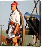 Fort Stanwix Warrior Acrylic Print