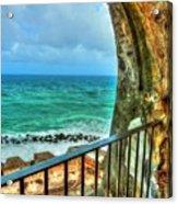 Fort Window View Acrylic Print