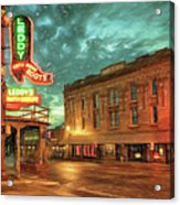 Fort Worth Impressions Main And Exchange Acrylic Print