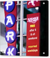 Fort Worth Parking Sign Digital Oil Paint Acrylic Print
