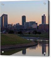 Fort Worth Skyline At Sunset Acrylic Print
