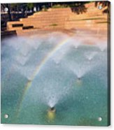 Fort Worth Water Gardens - Aerated Pool Acrylic Print