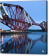 Forth Railway Bridge In Edinburg Scotland  Acrylic Print