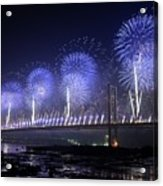 Forth Road Bridge Fireworks Acrylic Print