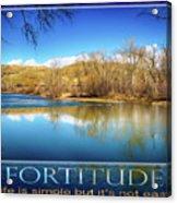 Fortitude Boise Motivational Artwork By Omashte Acrylic Print