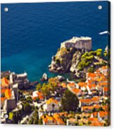 Fortress Of Dubrovnik From Above Acrylic Print