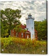 Forty Mile Point Lighthouse Lake Huron Lower Peninsilat Mi  Acrylic Print