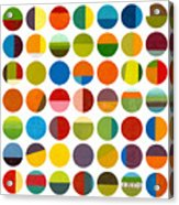 Forty Nine Circles Acrylic Print