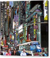 Forty Second And Eighth Ave N Y C Acrylic Print