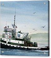 Foss Tugboat Martha Foss Acrylic Print by James Williamson