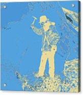 Fossil Hunter Blue Yellow Acrylic Print