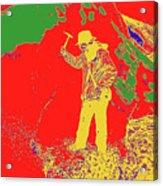 Fossil Hunter Red Yellow Green Acrylic Print