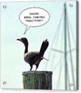 Foul Fowl Acrylic Print