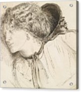 Found - Study For The Head Of The Girl Acrylic Print