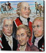 Founding Fathers Jay Madison Paine And Hamilton Acrylic Print