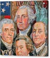 Founding Fathers Of America Acrylic Print