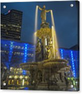 Fount Of Gold Acrylic Print
