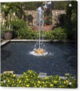 Fountain And Peppers Acrylic Print