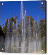 Fountain And Rainbow Acrylic Print