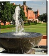 Fountain And Union Acrylic Print by Meandering Photography