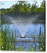 Fountain Art Acrylic Print