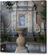 Fountain At Mission Carmel Acrylic Print