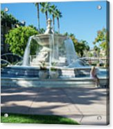 Fountain At Rio Vista Acrylic Print