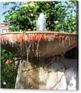Fountain At Taliesen Acrylic Print