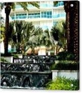 Fountain Entrance Acrylic Print