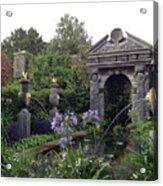 Fountain Garden Acrylic Print