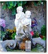 Fountain In Capri Italy Acrylic Print