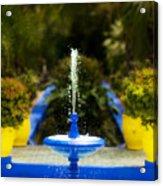 Fountain In Jardin Majorelle Morocco Acrylic Print